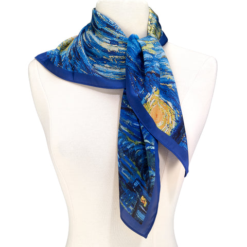Picture of Van Gogh Starry Square Scarf