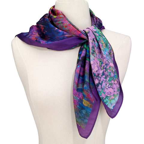 Picture of Garden Symphony Square Scarf