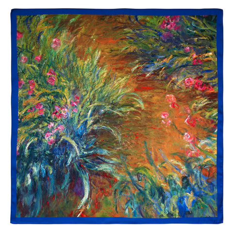 Picture of Irises by Monet Satin Chiffon Scarf