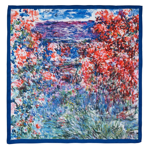 Picture of Monet's House at Giverny Under The Roses Satin Chiffon Scarf