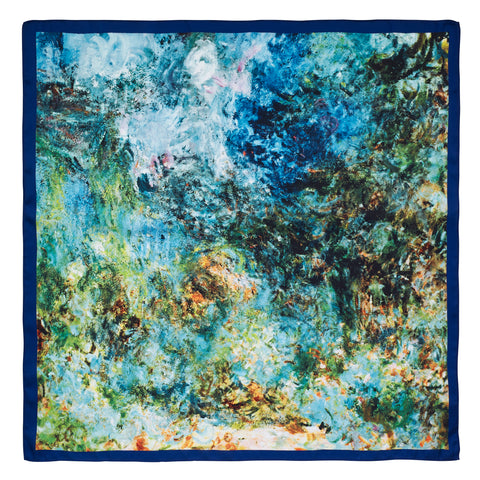 Picture of The House at Giverny Viewed From Rose Garden Satin Chiffon Scarf