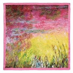 Waterlilies at Sunset Satin Chiffon Scarf