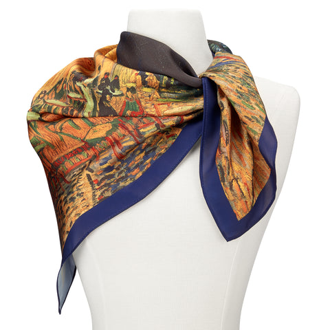 Picture of Van Gogh Café Terrace Square Satin Chiffon Scarf