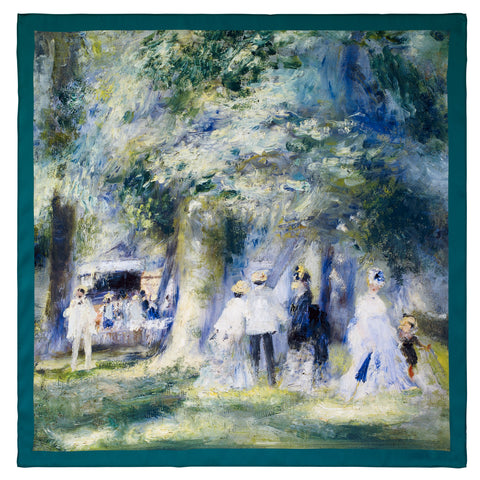 Picture of Renoir In the Park at Saint Cloud Square Satin Chiffon Scarf