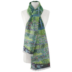 Monet Japanese Bridge Viscose\Poly Scarf