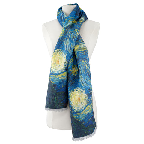 Picture of Van Gogh Starry Night Scarf Viscose\Poly Scarf