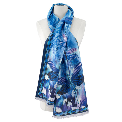 Picture of Stained Glass Dragonfly Scarf Viscose\Poly Scarf