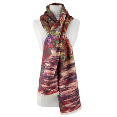 A Pathway in Monet's Garden Viscose\Poly Scarf