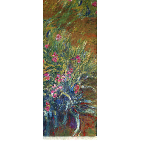 Picture of Irises by Monet Viscose\Poly Scarf