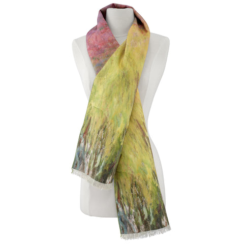Picture of Waterlilies at Sunset Viscose\Poly Scarf