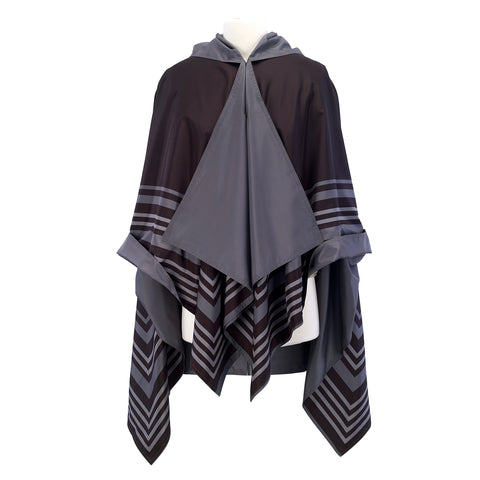 Picture of Black/Grey Bold Stripe RainCape