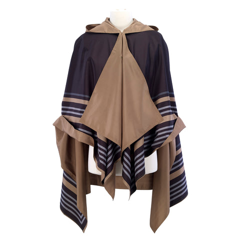 Picture of Black/Gold Bold Stripe RainCape