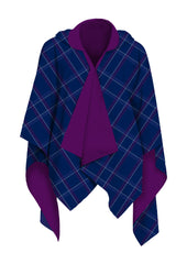 Blue Plaid RainCape