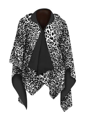 Picture of Leopard Skin Black & White RainCape