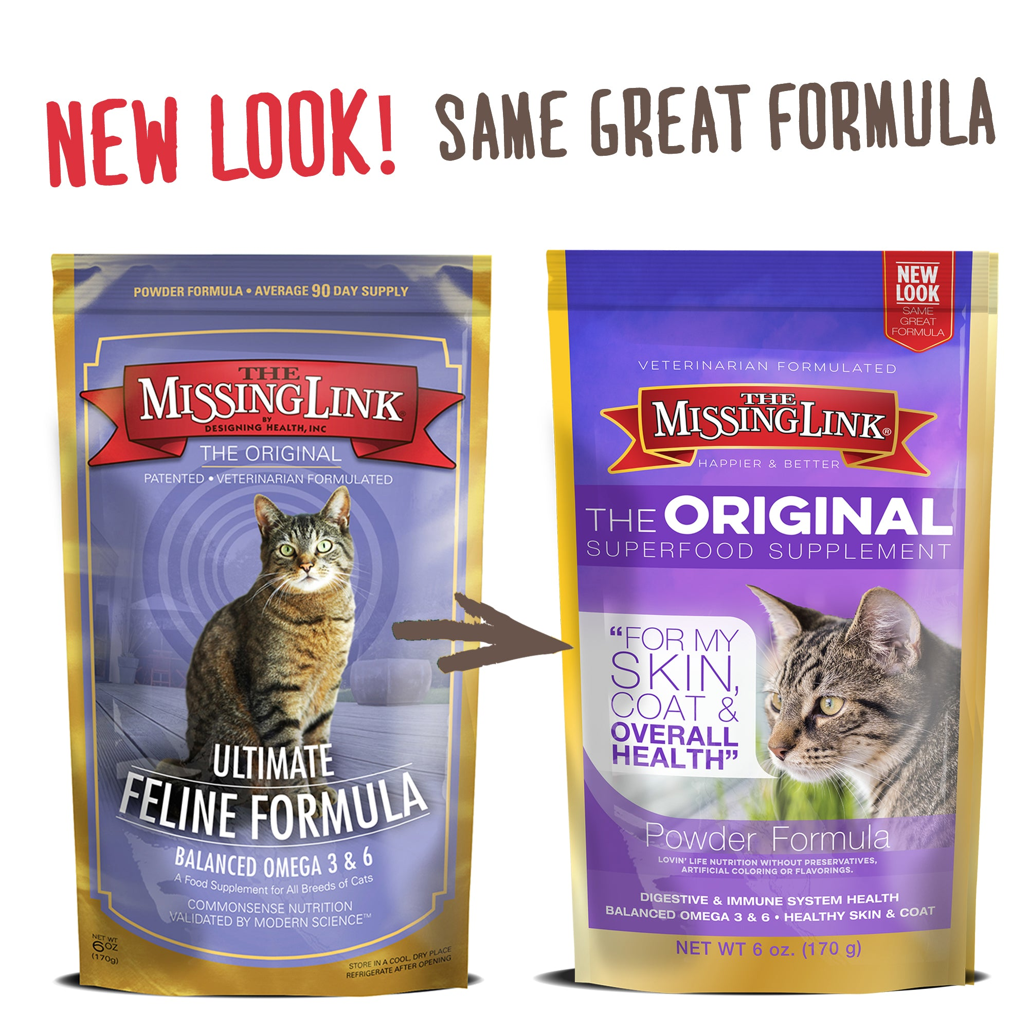 The Missing Link® Original Feline Skin & Coat Supplement - 6 oz.