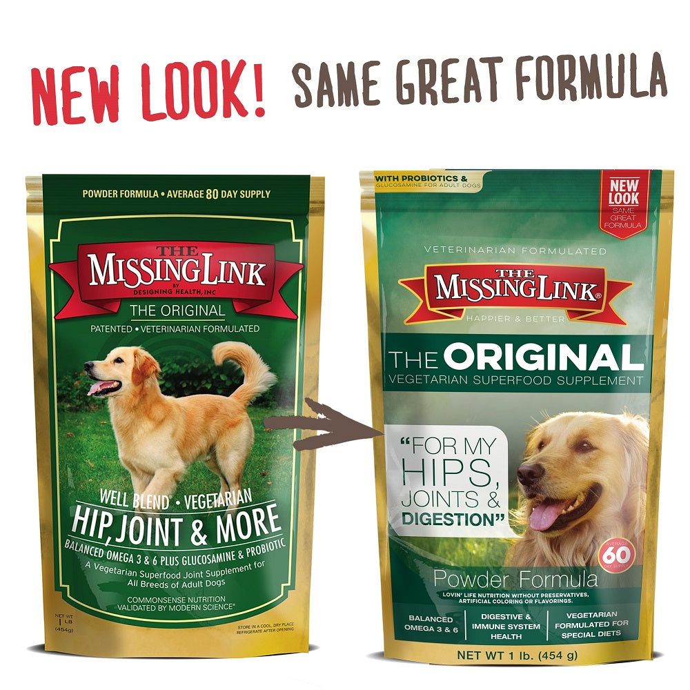 The Missing Link® Original Vegetarian Hips, Joints & Digestion Supplement for Dogs - 1 pound