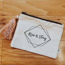 Load image into Gallery viewer, Rise & Slay Canvas Pouch
