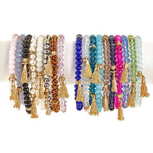 Load image into Gallery viewer, Zoe Beaded Tassel Bracelet