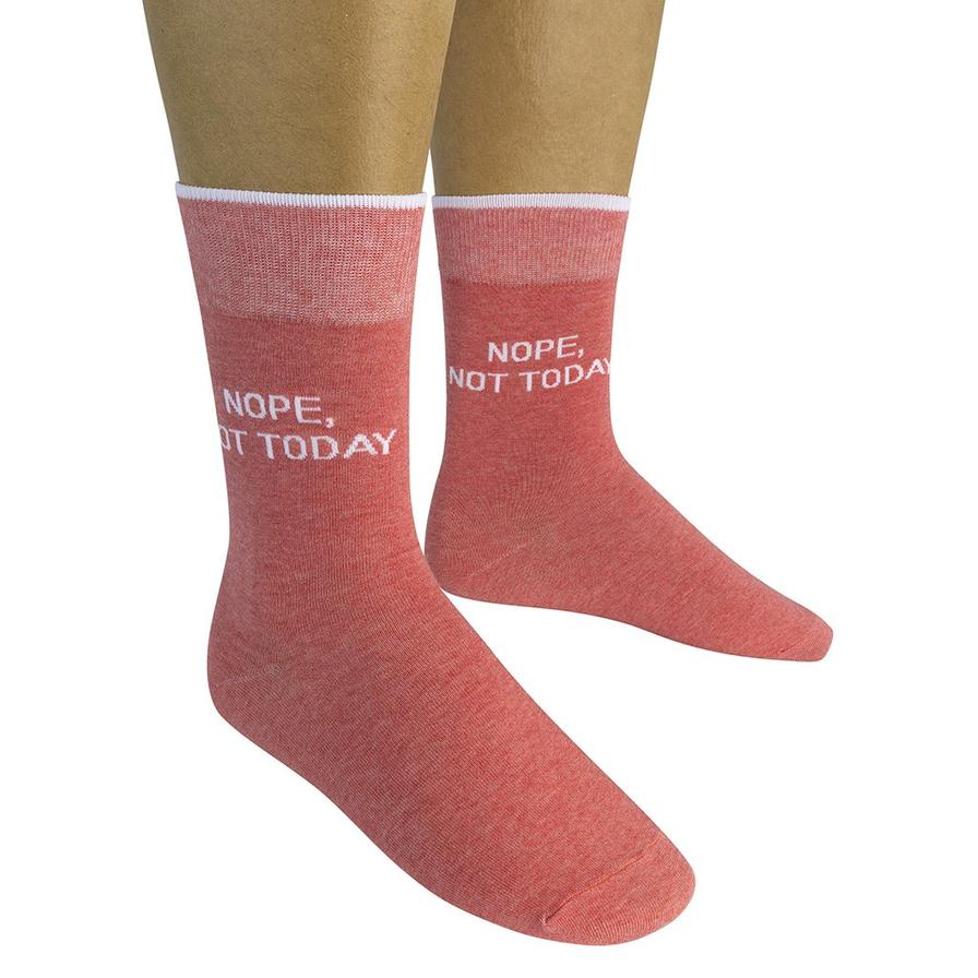 Nope Not Today Crew Socks