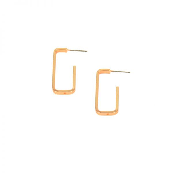 Open Rectangle Post Earrings