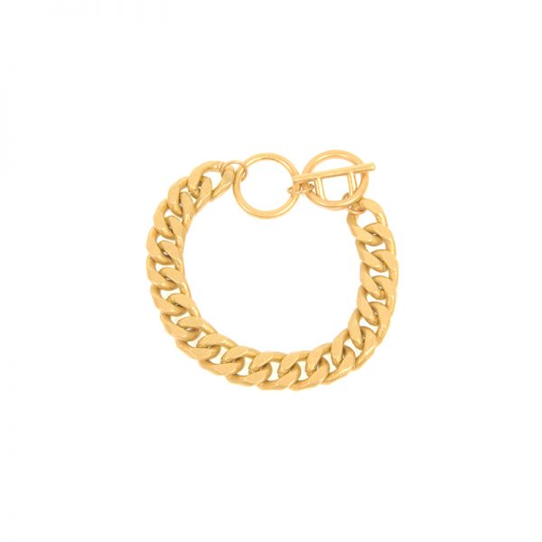Wheat Chain Toggle Bracelet