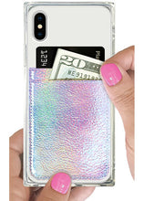 Load image into Gallery viewer, Iridescent Leather Phone Pocket