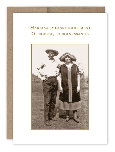 Marriage Means Commitment Card