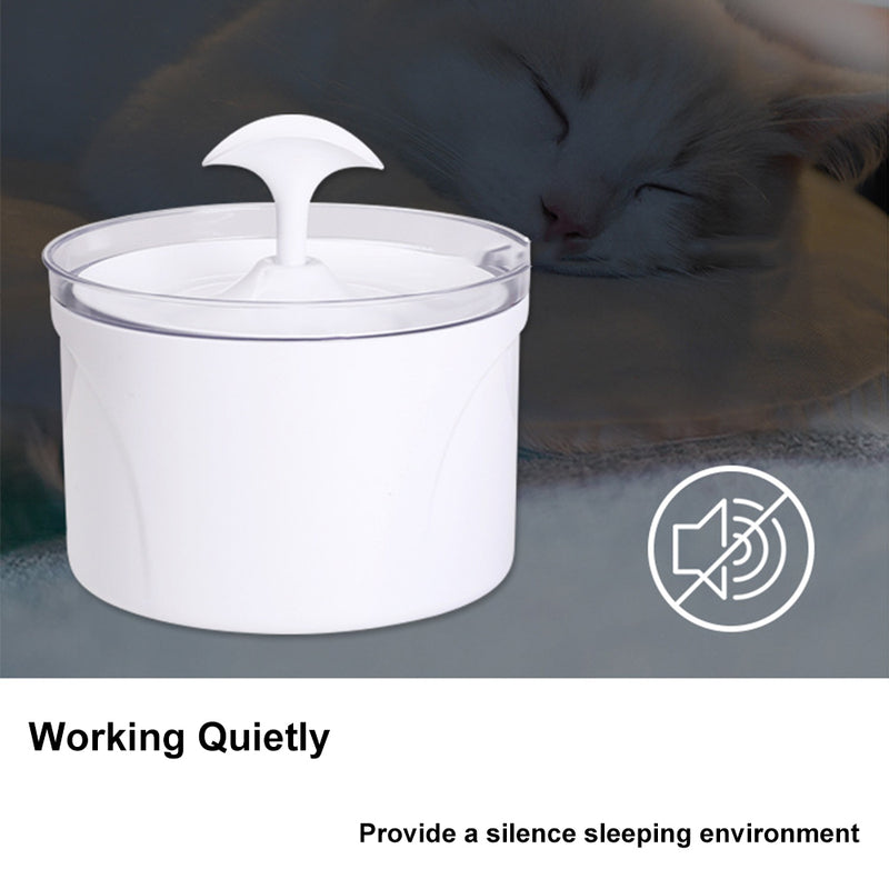 Pet Cat Electric Water Fountain Automatic Water Fountain Drinker Dispenser Bowl 1.6L - honeylives