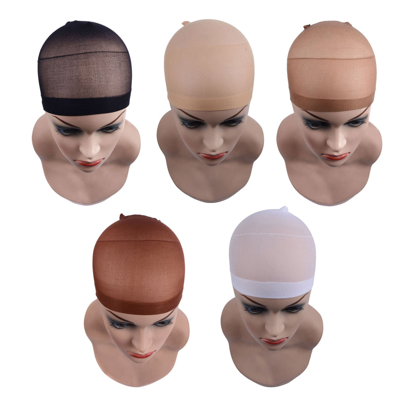 Quality Deluxe Wig Cap Hair Net for Weave Pack Stretch Mesh 12pcs