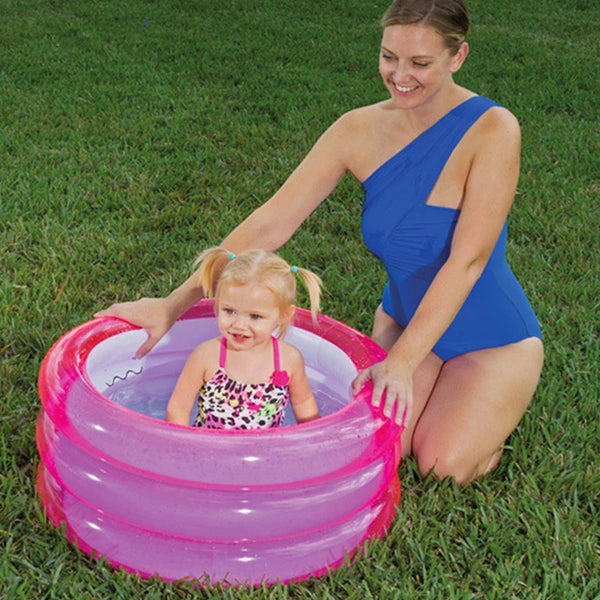 Kids Plastic Inflatable Pool  Lovely Bathtub 3 Level Shower Room Baby Swimming Pool - honeylives