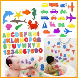 Bath Toys EVA Letter Transportation Paste Cognitive Words Bathroom Game 1Set Puzzle - honeylives