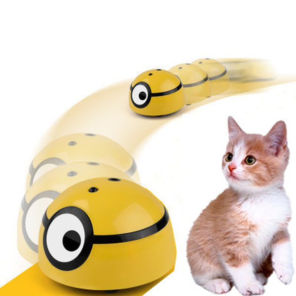 Pet Cat Dog Interactive Automatic Walking Escape Toy Sensor Scratch Device - honeylives