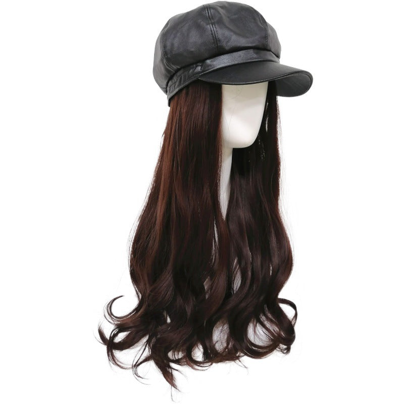 Ladies Fashion Wig Hat Hair Octagonal With Hats
