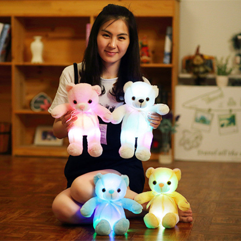 Luminous Creative Light Up LED Teddy Bear Plush Toy Colorful Glowing Gift for Kid - honeylives