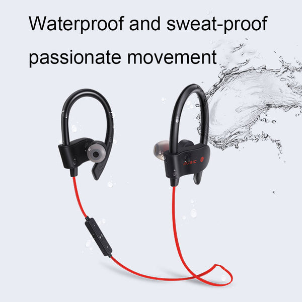 Bluetooth Earphone Earloop Earbuds Stereo Bluetooth Headset Wireless Sport Earpiece For all smart Phones - honeylives