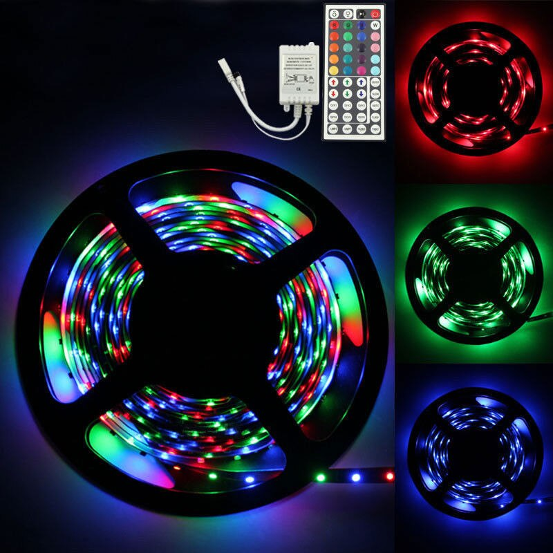 5M LED Strip Light SMD Flexible Light Strip  IR Remote Controller LED Lamp - honeylives