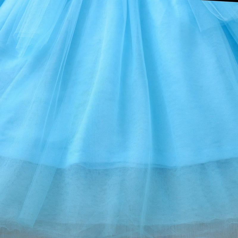 Mesh Baby Girl Princess Bridesmaid Pageant Gown Birthday Party Dress 6M-4Y - honeylives