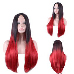 Lady Wigs Straight Hot Double Color Gradient Split