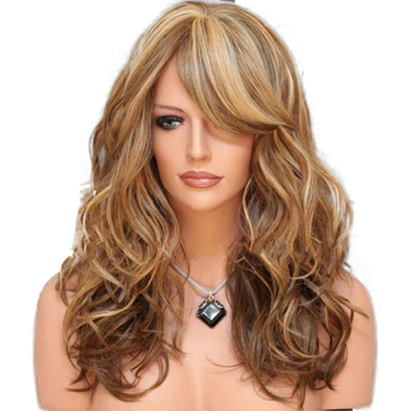 Fashion European and American Wig Women Wig Multicolor Long Curly Hair