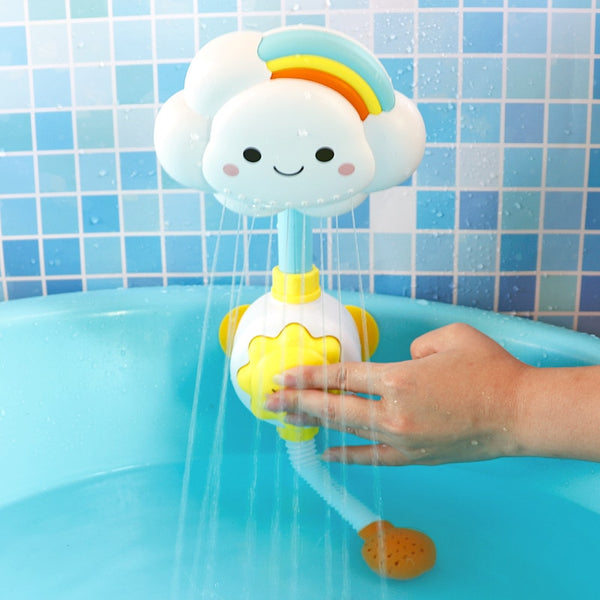 Baby Bath Toys Cloud Bathtub Spouts Suckers Folding Faucet Shower - honeylives