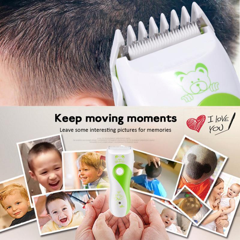 Baby Electric Hair Clipper Rechargeable Low Noise Hair Trimmers - honeylives