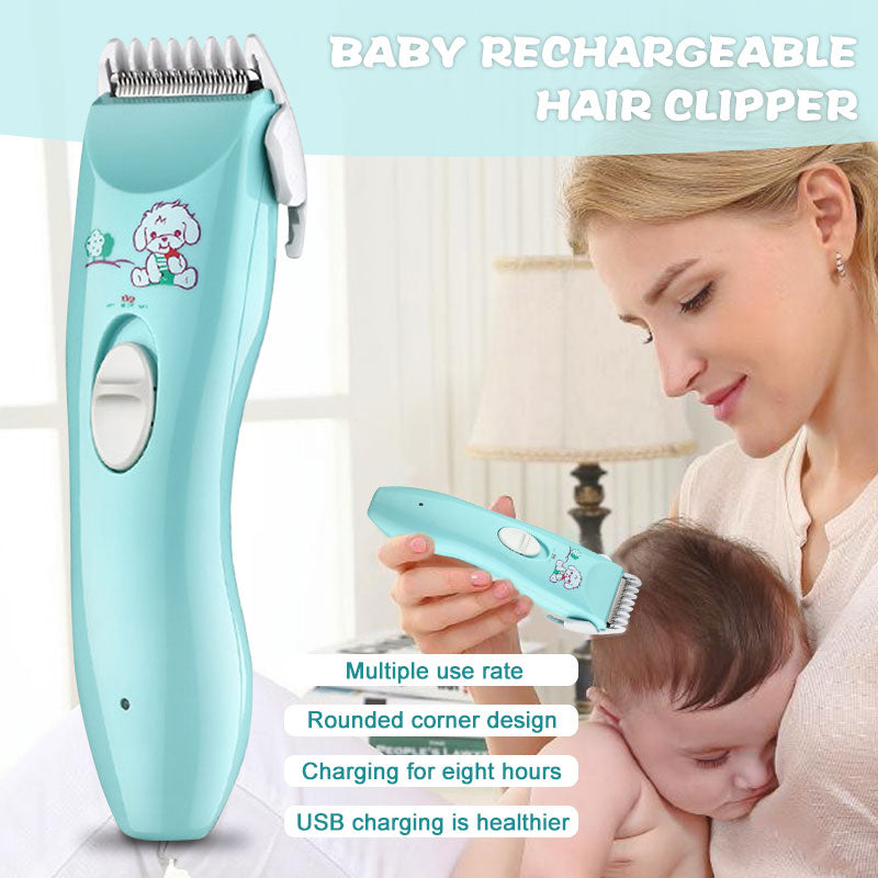 Baby Hair Cutter Electric Clipper Flexible Low Noise Strong Power Waterproof Haircut Trimmer - honeylives