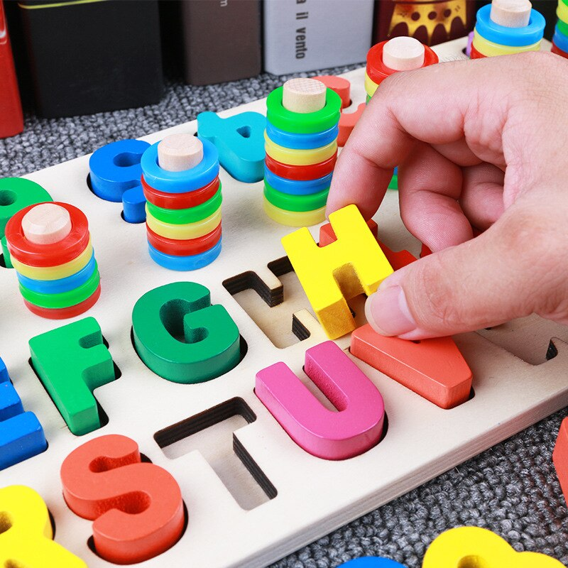 Baby Math Toys Digital Shape Pairing Learning Counting Board - honeylives