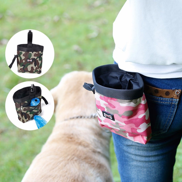 Pet Dog Puppy Pouch Walking Food Treat Snack Bag Agility Bait Training - honeylives