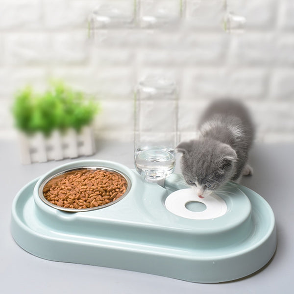 Cat Bowl Dog Water Feeder Bowl Drinking Fountain Automatic Food Dish - honeylives