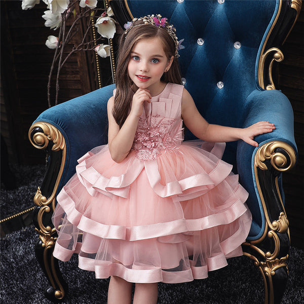 Toddler Baby Girl Princess Party Wedding Elegant Pageant Flower Dress - honeylives