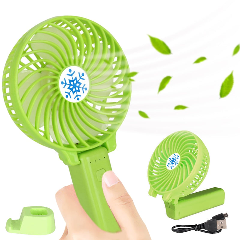 Cooler USB Charging Folding Handheld Fan Portable Outdoor Travel Mini Desk Fan - honeylives