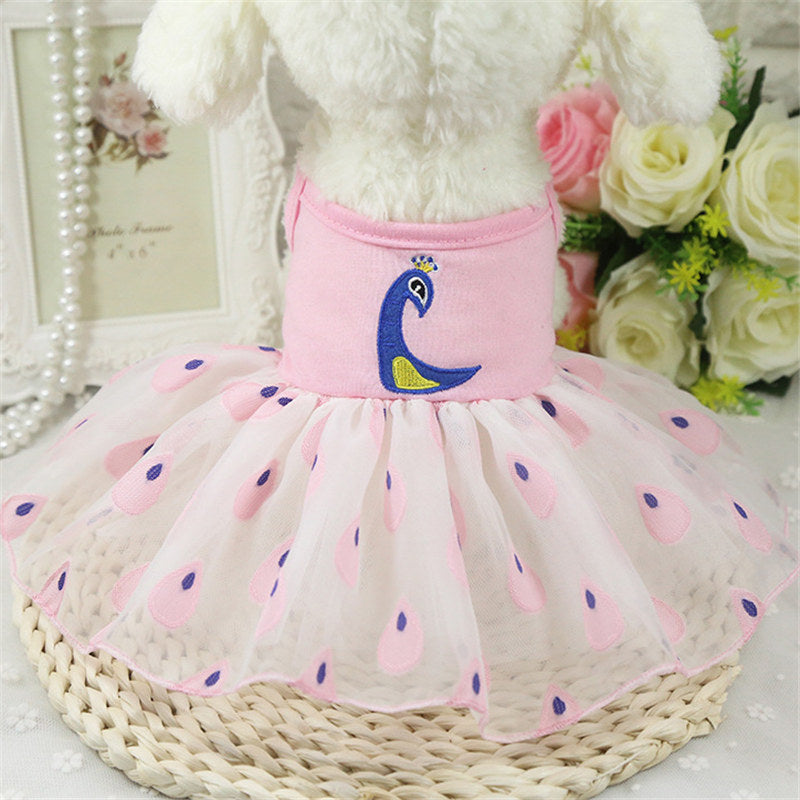 Cute Dog Clothes for Small Dogs Dress Skirt Summer Luxury Princess XS-XXL - honeylives