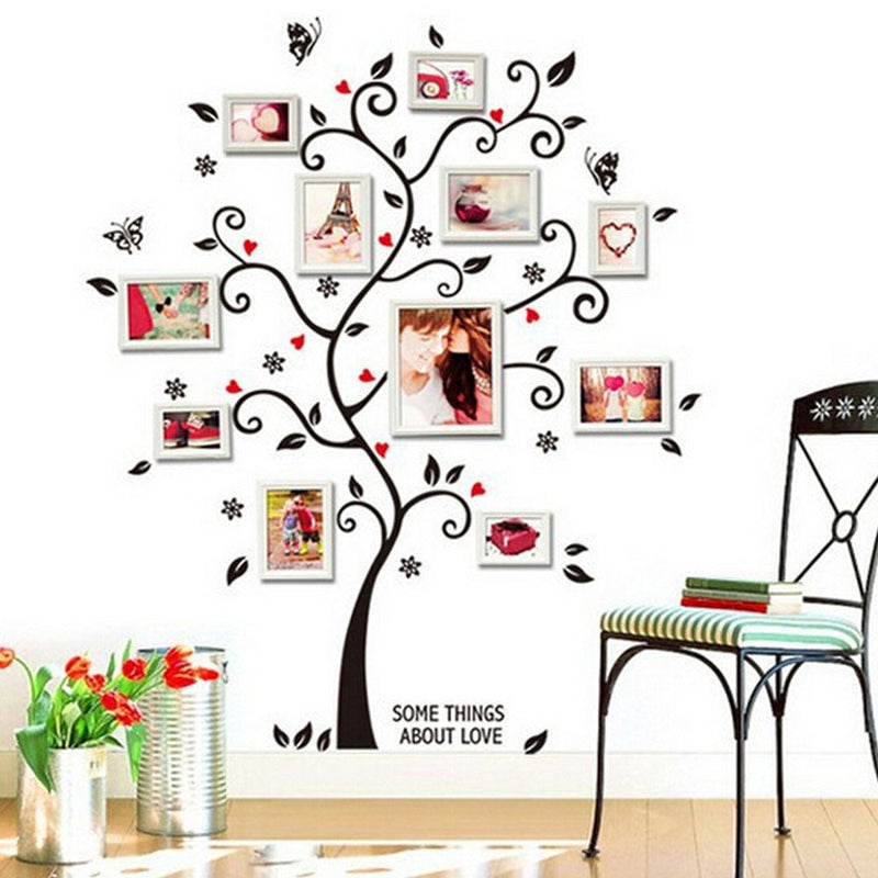 Diy Family Photo Frame Tree Wall Sticker Home Decor Wall Decals Poster - honeylives