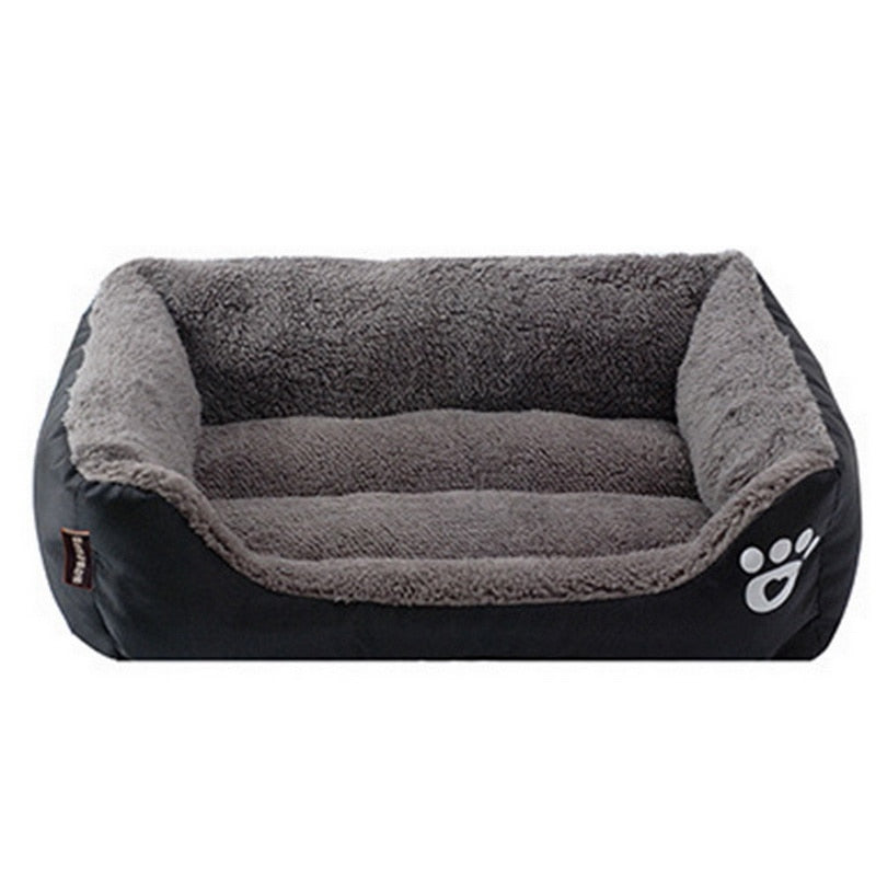 Dog Beds Paw Pet Sofa Waterproof Bottom Soft Fleece Warm Cat Bed House - honeylives